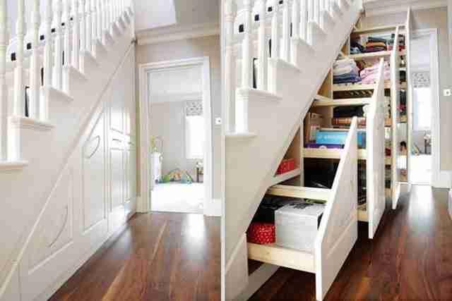 Αποθηκευτικός χώρος κάτω από τη σκάλα!