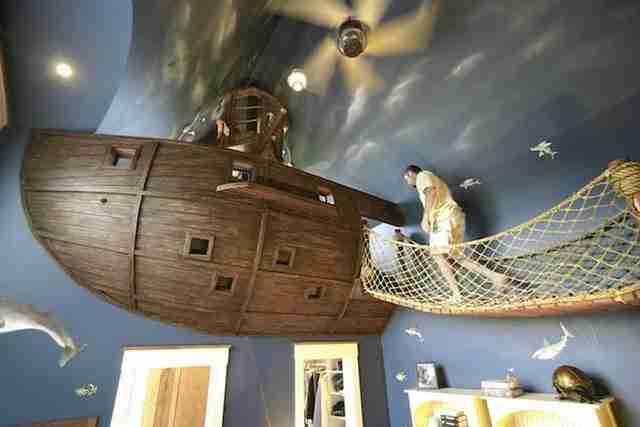 Υπνοδωμάτιο πειρατικό πλοίο