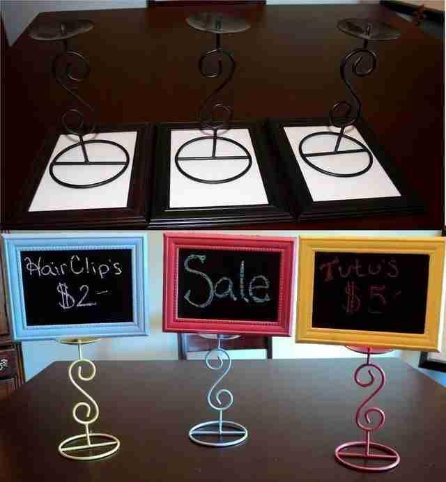 Αν έχετε κατάστημα φτιάξτε όμορφες ταμπελίτσες με μερικές κορνίζες.