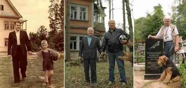 Πατέρας και γιος κατά τη διάρκεια των ετών.