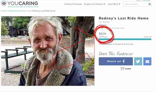 Ένας άστεγος του είπε ότι το μόνο που ήθελε ήταν να πάει στο σπίτι του. Έτσι έκανε ότι μπορούσε για να τον βοηθήσει..