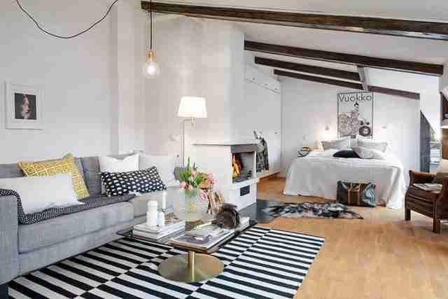 Ο παράδεισος σε 44 τετραγωνικά! Δείτε ένα οpen space διαμέρισμα από τη Σουηδία!