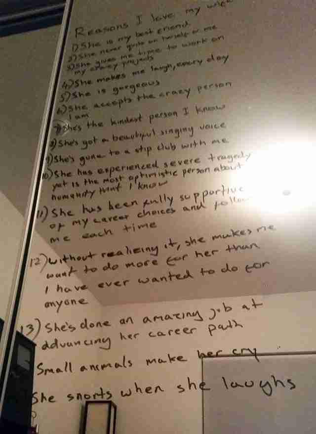 Σύζυγος έφτιαξε λίστα με τους λόγους που αγαπάει τη σύζυγό του που παλεύει με την κατάθλιψη