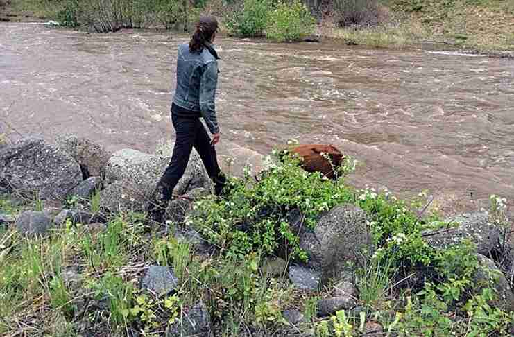 Αυτή η γυναίκα περπατούσε δίπλα στο ποτάμι όταν πρόσεξε κάτι σπαρακτικό.