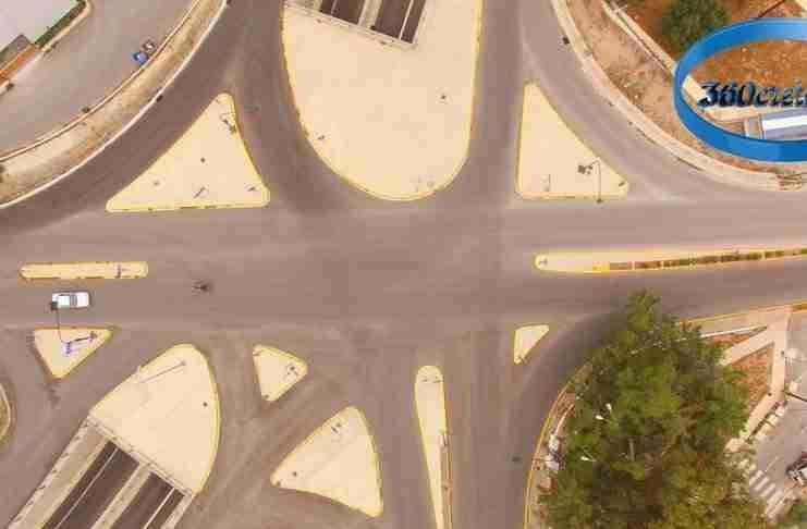 """Ο οδικός κόμβος στην Κρήτη που θυμίζει....""""ρώσικη ρουλέτα""""!"""