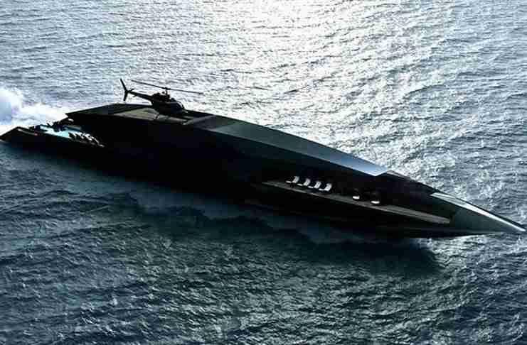 Ο «Μαύρος Κύκνος» των θαλασσών: Το μαύρο σούπερ γιοτ που θυμίζει τόξο!
