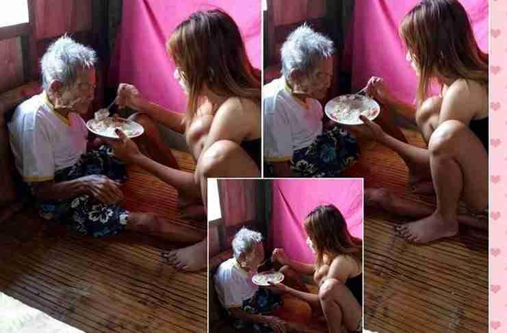 Νεαρή γυναίκα ανέβασε αυτές τις φωτογραφίες στο Facebook για να ευχαριστήσει την 98χρονη γιαγιά της