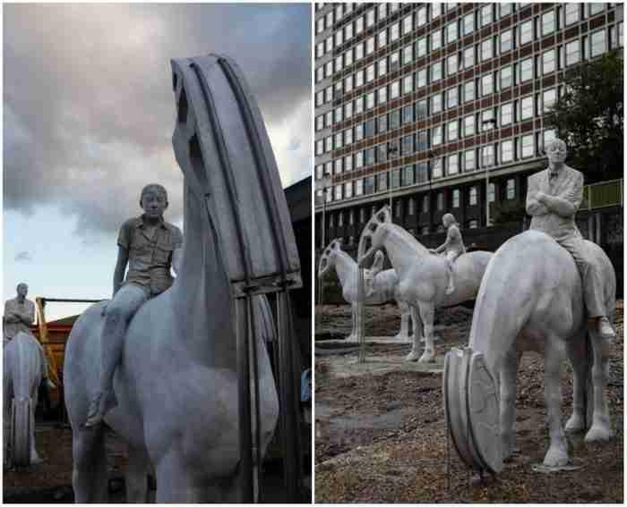 Τα εντυπωσιακά αγάλματα που είναι ορατά μόνο δυο ώρες την ημέρα!