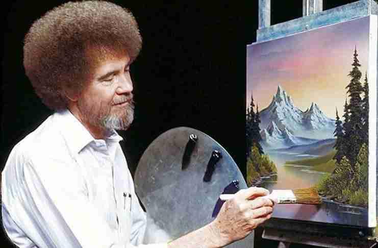 Μπομπ Ρος: Ο αξιωματικός που έγινε ζωγράφος και ολοκλήρωνε τους πίνακες σε 26′. Δεν πούλησε κανένα από τα έργα του αλλά τα δώρισε σε φιλανθρωπικές οργανώσεις