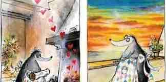 Διάσημος σκιτσογράφος έφτιαχνε σχέδια για να εμψυχώσει την άρρωστη γυναίκα του. Το αποτέλεσμα είναι συγκινητικό και αισιόδοξο.