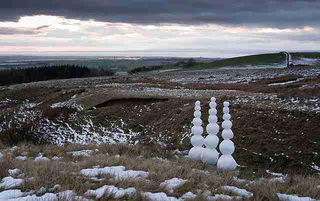 Έργα τέχνης απο χιόνι και πάγο