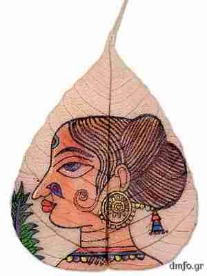 Ζωγραφική πάνω σε φύλλα