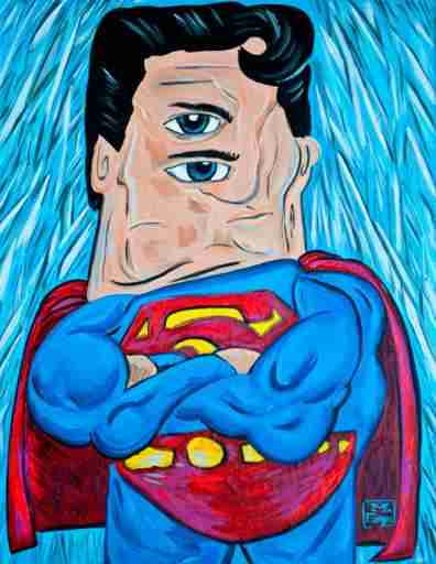 superman-picasso-drawing