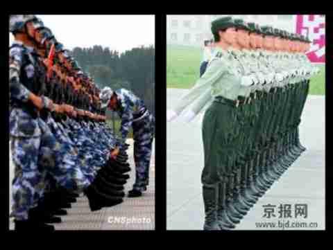 Προετοιμασία παρέλασης στην Κίνα