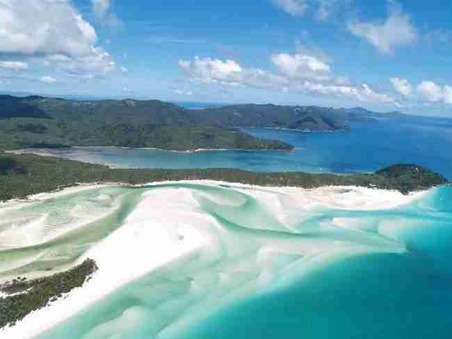 2. Whitehaven beach, Australia