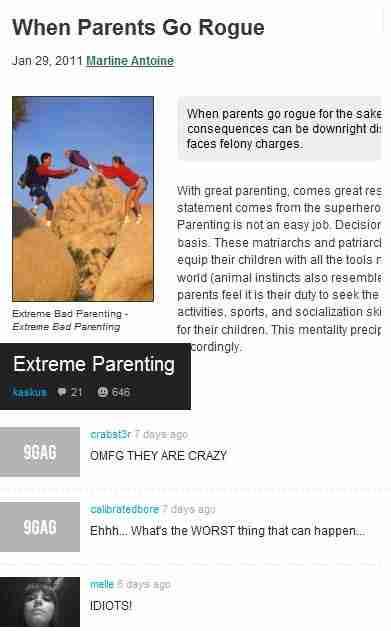 extreme bad parenting