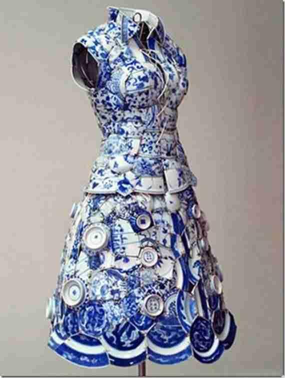 Φόρεμα κατασκευασμένο από κινέζικη πορσελάνη