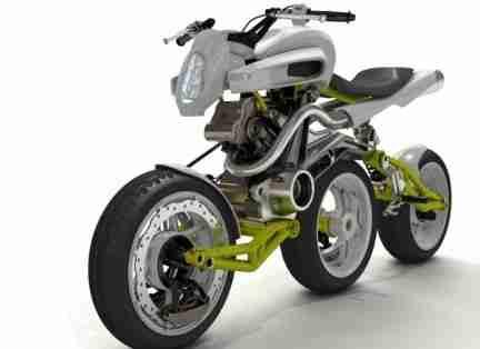 Axial Three Wheels Motorcycle Concept