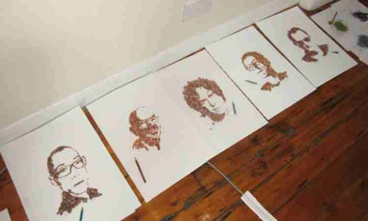 Πορτραίτα από ξύσματα μολυβιού!