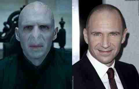 Ralph Fiennes - Lord Voldemort in Harry Potter