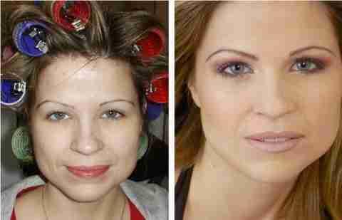 Πριν και μετά το μακιγιάζ!