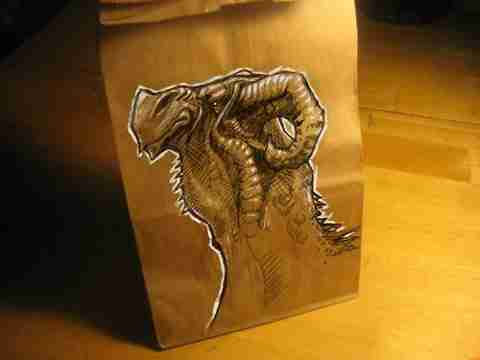Σακούλες φαγητού.. έργα τέχνης!