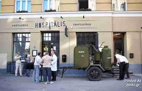 Το εστιατόριο που θυμίζει.. νοσοκομείο!