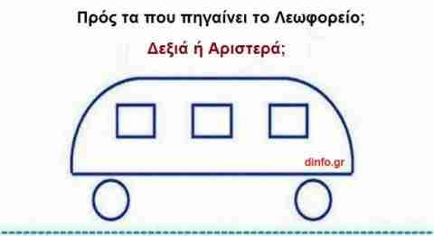 Προς τα που πάει το λεωφορείο;