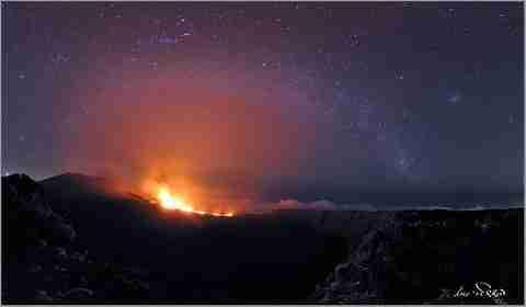 Ο νυχτερινός ουρανός από τον Luc Perrot