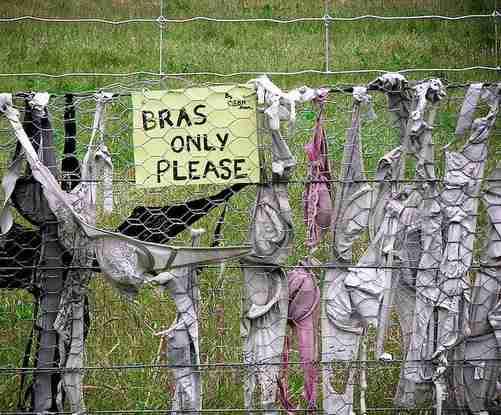 Ο φράχτης με τα σουτιέν..