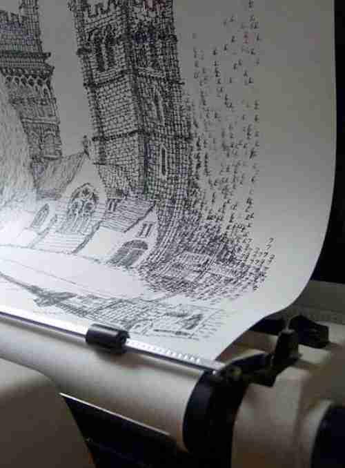 Ζωγραφίζοντας με μια γραφομηχανή