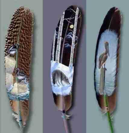 Ζωγραφική πάνω σε φτερά του Ian Davie