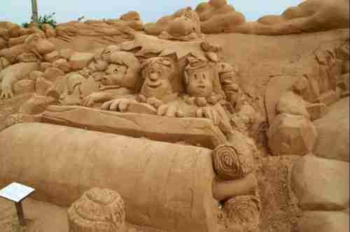 Υπέροχα γλυπτά από άμμο