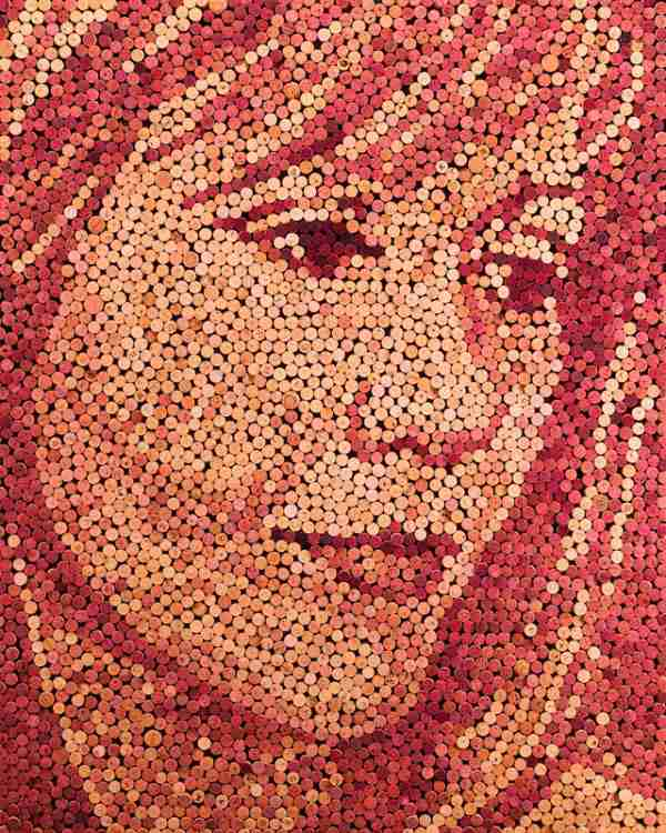 Πορτραίτα από χιλιάδες φελλούς
