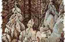 Πίνακες από φύλλα δέντρων και λουλούδια