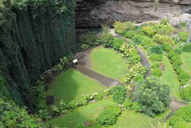 Ο βυθισμένος κήπος Umpherston