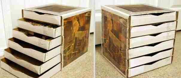 Pizza Box Drawers