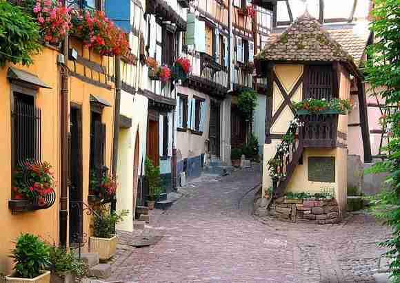 Street in Eguisheim, France2