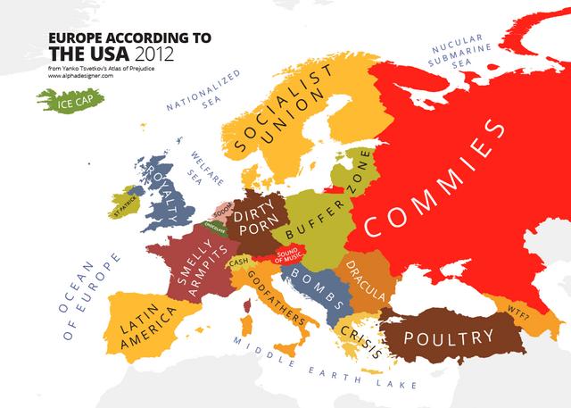 Χάρτες της Ευρώπης όπως την βλέπουν διάφοροι λαοί
