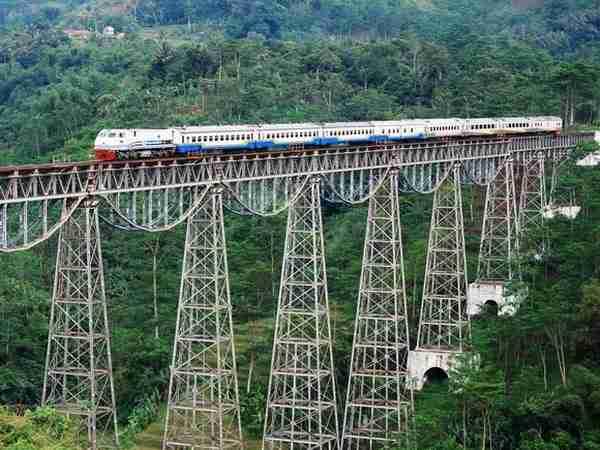 Argo Gede Train Railroad, Indonesia