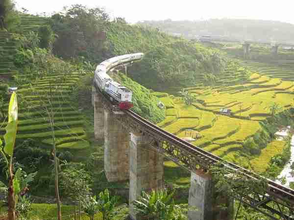 Argo Gede Train Railroad, Indonesia3