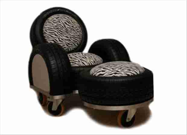 20 έξυπνες κατασκευές από παλιά λάστιχα αυτοκινήτων
