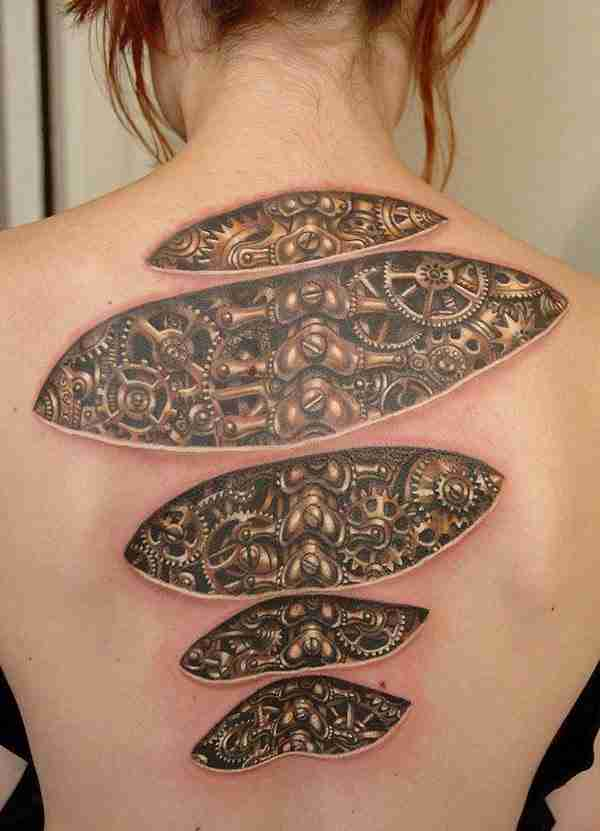 50 απίθανα τρισδιάστατα τατουάζ