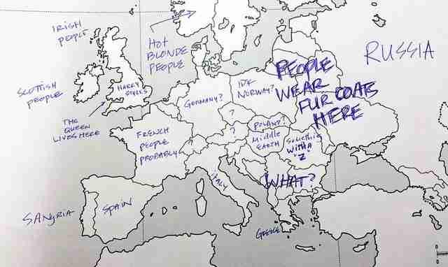dinfo.gr - Αμερικανοί κλήθηκαν να τοποθετήσουν τις ευρωπαϊκές χώρες στο χάρτη. Δείτε τι απάντησαν