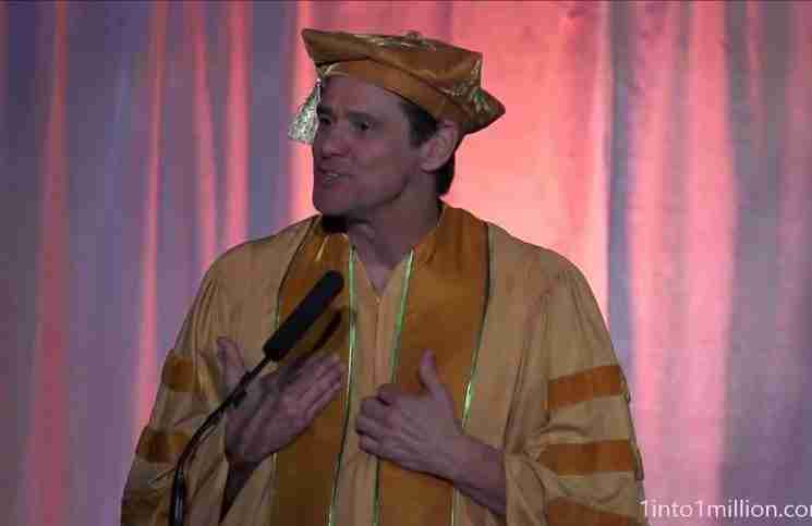 Αυτό το λεπτό της ομιλίας του Τζίμ Κάρεϊ, μπορεί να αλλάξει τη ζωή σας για πάντα.