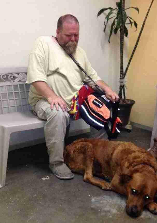 Δείτε πως μια άγνωστη γυναίκα έσωσε τη ζωή ενός σκύλου και του άστεγου ιδιοκτήτη του