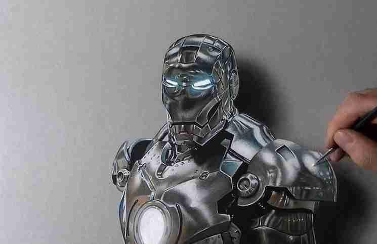 Παίρνει μερικά πινέλα και ζωγραφίζει τον πιο αληθινό Iron Man που έχετε δει!