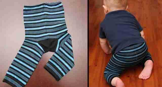 Παντελονάκι για το μωρό από παλιές σας κάλτσες