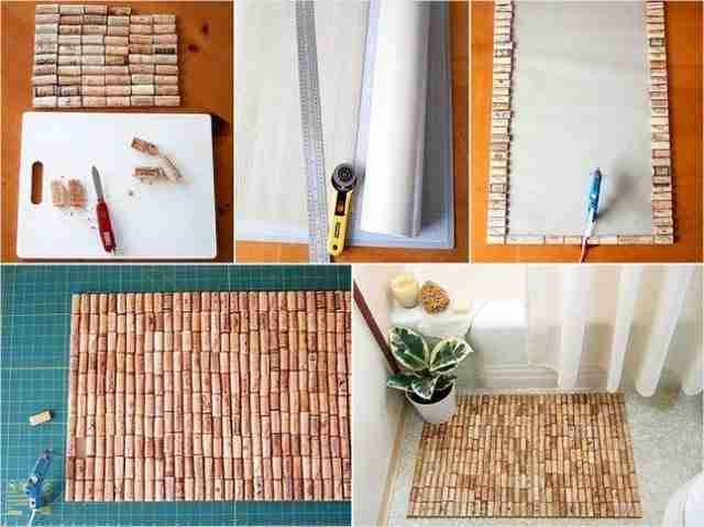 Φτιάξτε ένα χαλάκι για το μπάνιο από φελλούς!