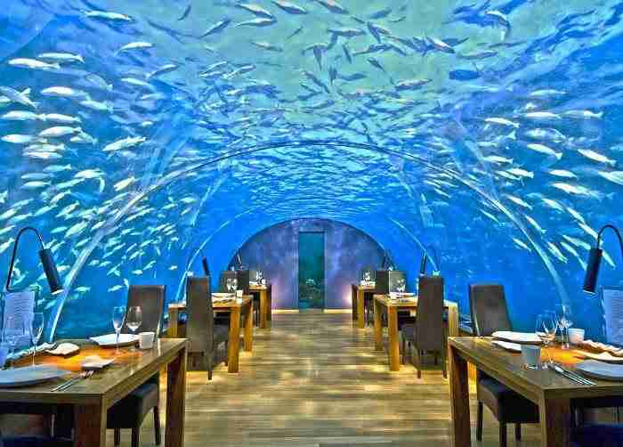 Ithaa Undersea Restaurant στο νησί Rangali, Μαλδίβες